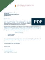 Letter for Practi