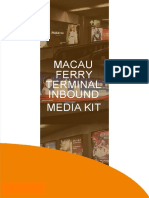 Macau Ferry Terminal advertising, Macau Ferry advertising