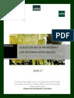 Guía Plan de Estudios Prehistoria 2016 17