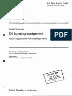 BS 799 - Part 5 - 1987 - Oil Burning Equipment