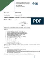 Tematica Licenta 2017-Agricultura