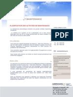AFC Planification Des Activites de Maintenance