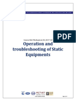 Operation and Troubleshooting of Static Equipment