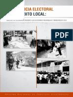 Conflictos y Violencia Electoral Ámbito Local 2014