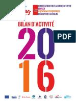 Bilan d'activité 2016 - Cité des métiers du Val-de-Marne