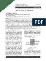 Overlapped Fingerprint Separation for Fingerprint Authentication