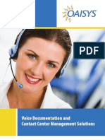 OAISYS Voice Documentation and Contact Center Management Solutions