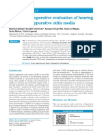 4.Pre and Post Operative Evaluation of Hearing in Chronic Suppurative Otitis Media