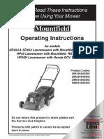 HP45H Lawnmover Manual