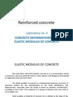 Reinforced Concrete, Lab 4