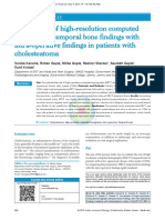 7. Correlation of High‐Resolution Computed Tomography Temporal Bone Findings With Intra‐Operative Findings in Patients With Cholesteatoma