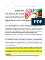B - Análisis y Evolución Del Concepto de Necesidades Educativas Especiales