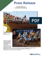 160 2017 European Motocross Provisional 2018 Calendar