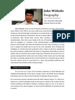 Joko Widodo Biography