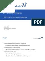 QuantAlea Going Deeper in Finance