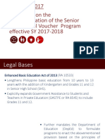 Guidelines on the ImplementationSenior High School Voucher Program