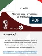 Checklist - Normas de Formatação
