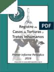Registro de Casos de Torturas y Tratos Inhumanos
