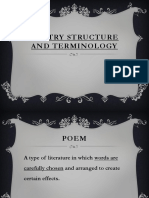 Poetry Structure & Terms