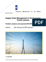 BRIDGE WP07 Textile Industry - Problem Analysis and Expected Benefits