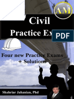 Four PE Civil Practice Exam