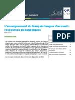 Focus Enseignement Francais Langue Accueil Ressources Pedagogiques