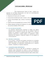 Especificaciones Tecnicas Ubs - Huánuco