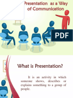 Presentation as a Way of Communication