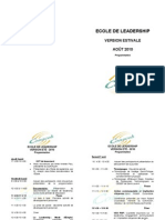 ECOLE DE LEADERSHIP - Programmation