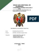 Informe de Conta Sociedad Colectiva