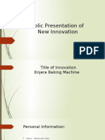 Public Presentation Of