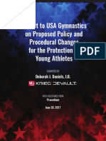 Independent review of USA Gymnastics practices on reporting sexual misconduct