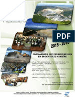 Formation Ingenerie Miniere 2015-2016-Avril 2015