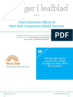 West Side Community Health Services - CEO - Position Profile