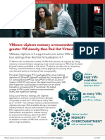 VMware vSphere memory overcommitment delivered greater VM density than Red Hat Virtualization