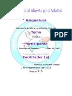Tarea II Educacion Artisitica