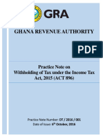 Practice Note on Withholding of Tax