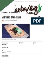 _Mis Tacos Gamberros _ Platos Entrantes _ HazteVeg