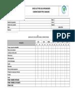 Check List Preoperacional de Apisonador o Compactador Tipo Canguro
