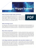 Factsheet- Cern and the Higgs Boson