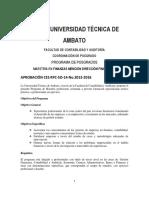 Maestria en Finanzas Mencion Direccion Financiera
