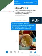 Ciudadana se queja con Gloria por leche en mal estado