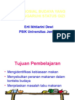 2.Aspek Sosial Budaya Yang Mempengaruhi Status Gizi