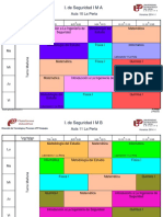 Horarios 2014- I_ Ingeniería de Seguridad Industrial y Minera