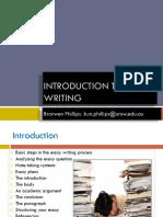 Intro to Essay Writing