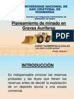 EXP. Planeamiento de Minado en Gravas Auriferas