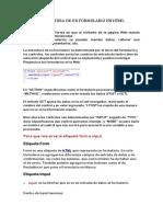 Estructura de Un Formulario en HTML