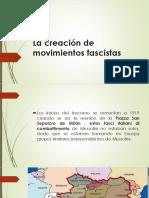 La Creación de Movimientos Fascistas