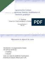 programmes lineaires, modelisation et resolution graphique