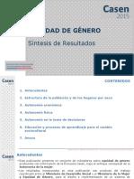CASEN 2015 Resultados Equidad Genero